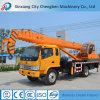 Grue Singapour de camion utilisée par boum télescopique hydraulique mobile facile d'exécution mini avec les pièces de rechange libres