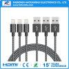 2.1A Nylon OEM Brading carga rápida Cable de teléfono para el iPhone 7