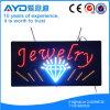 Muestra impermeable de la joyería LED del rectángulo de Hidly