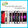 Drei-Beweis Aluminiumrüstungs-Kasten mit Objektiv für iPhone 7/6s