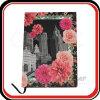 Papel de papelão revestido de papel com flores