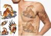 Стикер Tattoo конструкции картины тигра животный водоустойчивый временно