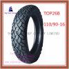 Schlauchlose, lange Lebensdauer, Reifen des ISO-Nylonmotorrad-6pr mit 110/90-16