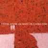 安く台湾の磨かれた自然な石造りの赤い染められた花こう岩