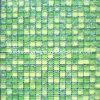 Baldosa mosaico de vidrio verde agrietada (HGM313)