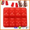 Moulage gommeux de chocolat de sucrerie de silicones d'ours