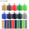 工場カスタムロゴの携帯用フォールドはNon-Wovenショッピング・バッグをリサイクルする