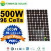 最高効率スーパーパワー単結晶ソーラーパネル 500W を無償出荷