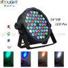 54*1W RGBW LED Ministadium NENNWERT Licht mit flachem Gehäuse