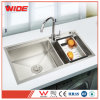 최고 Quality Double Bowl Hand Made Factory Price를 가진 304 SUS Kitchen Wash Sink