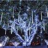 다색 30cm 유성우 비 관 LED 크리스마스 불빛