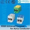 Baccano-Rail Mounting Universal Terminal Blocks per Ai/Cu Conductors Ke68