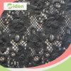 Tessuto chimico africano poco costoso del merletto del ricamo nero