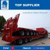A Titan 120 toneladas Lowboy Reboque com pescoço de cisne destacável para venda