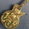 Гитара Lp таможни электрическая с Abalone Fretboard инкрустированным динозавром (GLP-626)