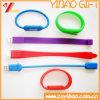 Alta qualidade pulseira de silicone USB para brinde promocional (YB-WR-03)