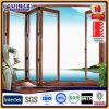単一の二重ガラスとのアルミニウムBiの折れ戸木製カラー