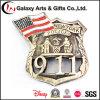 Souvenir de l'Amérique de grand dos de calcul des coûts de diamètre avec la police faite sur commande de pays des syndicats de logo et indicateur pour l'emblème 911