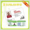 Cartão em branco da identificação do estudante do terreno do PVC com Smaple livre