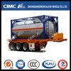 Cimc Huajun 20FT 2axle Skeletal Tank Container Semi-Trailer