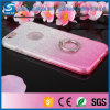 Samsung Galaxys7の端のためのきらめきの粉のリングのKickstand TPUのケース