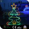 Luz do motivo do diodo emissor de luz Pólo do Natal 2D para a decoração interna ao ar livre