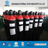 De industriële Naadloze Gasfles van de Zuurstof van het Staal (ISO9809 219-40-150)