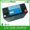 Batería profunda del ciclo 12V 15ah LiFePO4 para la UPS