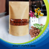 Printing su ordinazione Foil Lined Kraft Paper Bags con Window per alimento biologico