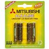 Mitsubishi Brand Lr03 Alkaline Dry Battery 1.5V