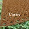 Используемая рогожка дренажа резиновый/резиновый полые циновки