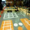 O Intertravamento de borracha interior barata e piso de ginásio lado a lado