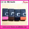 Случай 2015 самых новых цветастых джинсыов кожаный с шлицем кредитной карточки на iPhone 6 аргументы за бумажника кожи мобильного телефона iPhone6