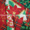 Calientes! ! ! ! Flores de Navidad Mini Tejido de poliéster mate para Mantel
