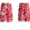 남자의 Casual Leisure Summer Printed Beach Shorts 또는 Board Shorts
