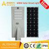 100W Waterprooof IP65 Sensor de movimento integrado ao ar livre em um único LED Solar Luz Jardim de Rua