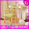 2015人の子供Study Table Chair Set、Kids Writing TableおよびChair、School Wooden TableおよびKids W08g157AのためのChair