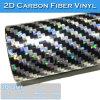 Película del coche de la tela cruzada de la etiqueta engomada de la fibra del carbón de la alta calidad de Carlike 2.a