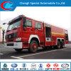 Acqua di Sinotruk 6X4 e camion dei vigili del fuoco della gomma piuma