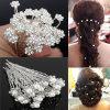Capelli nuziali dei perni della perla di modo di cerimonia nuziale di capelli del fiore di cristallo dei perni
