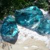 중국 도매 착색된 광재 유리 바위