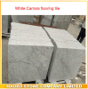 白いカラーラの床タイルの大理石のタイル