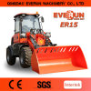 Cer Approved Mini Shovel Wheel Loader mit Rops&Fops Cabin