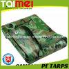 80GSM ~ 160GSM imperméable à l'eau bâche de camouflage PE
