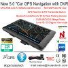 5.0 Android 6.0 Car DVR с GPS-навигации, WiFi; 1 ГБ DDR; 8 ГБ флэш-памяти, 2.0mega FHD1080p Car камера, G-Sensor, Adas цифровое записывающее устройство автомобиля; планшетные ПК карты Google