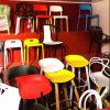 容易ののアセンブルする椅子の現代椅子を食事する快適な白をきれいにする椅子のプラスチック驚異を議長を務める