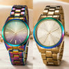 Relojes de encargo de la manera del reloj del cuarzo suizo de la insignia para los pares (WY-17003E)