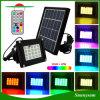 20의 LED RGB 정원 잔디밭 조경 훈장을%s 원격 제어를 가진 태양 플러드 빛