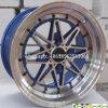 15*8j roda a roda da liga da réplica da roda de carro das bordas do alumínio