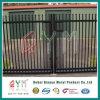 Geschweißter Stahlpfosten-Zaun-/Puder-überzogener bearbeitetes Eisen-Zaun